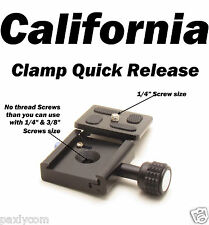 Clamp and QR Quick Release Plate for Tripod Ball Head Camera KS-1 Metal Adapter