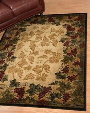 "5x8 (5'3"" x 7'2"") Grapes Beaujolais Vineyard Grapevine Wine Area Rug"