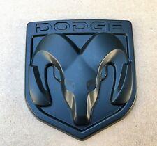 DODGE MATTE BLACK 3M EMBLEM HOOD OR TRUNK TAILGATE LOGO FENDERS BADGE NEW