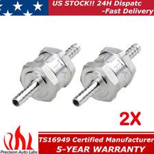 "2x 6MM Non-Return One Way 1/4"" Air Fuel Oil Check Valve Diesel Gas Automotive"