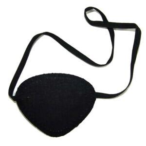 Dr. Junghans Augenklappe für Erwachsene schwarz mit Gummiband Augenschutz