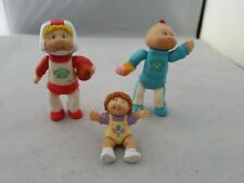 Vintage 1980s Cabbage Patch Kids Doll Poseable Figure Bundle of 3 rare