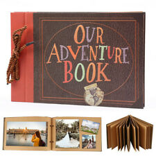 Retro Vintage Photo Album Scrapbook Our Adventure Book Memory Anniversary DIY  K