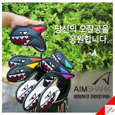 Aimshark Golf Club Iron Head Cover 9ea Magnetic Attachment - Gray/Black/White
