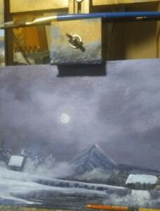 A beautiful winter painting