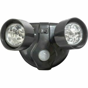 Battery Operated 10 LED Twin Head Motion Sensor Security Light - GH121