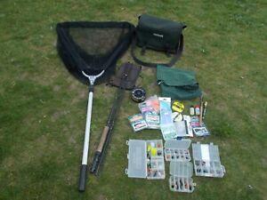 Small fly fishing set up job lot rod reel tackle etc FISHING SET UP