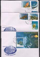 RO) 2014 CARIBE, FAUNA MARINA, WILDLIFE - FISH, FDC XF