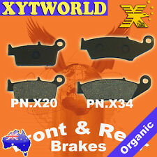 FRONT REAR Brake Pads for Kawasaki KLX 250 D-Tracker 1998-2007