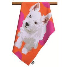 Leslie Gerry ~ WESTIE ~ 100% cotton tea towel BNWT boxed West Highland Terrier