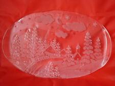 Schöne Servierplatte Kuchenplatte Glasplatte - Weihnachten - Winter Motiv