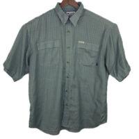 Columbia GRT Men's Plaid and Checker Button Up Short Sleeve Shirt Size XL