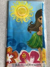 Tropical Beach Hula Party Tablecover 1.37m X 2.13m Hibiscus Summer