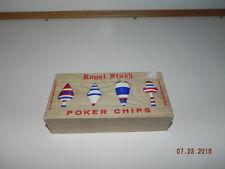 Vintage Pre-Owned 100 Royal Flush Poker Chips original Box Plastic Unbreakable