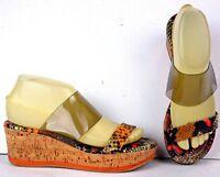 DONALD J PLINER Womens Platform Sandals Size 7 M Wedge Heels Shoes WF3