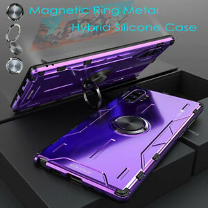 Ring With Metal Aluminum Silicone Armor Case For Samsung iPhone 11 XS Huawei P30