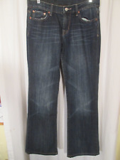 LUCKY BRAND Low Rise Boot Cut Flare DENIM JEANS sz 6 meas 32 x 30 Embellished