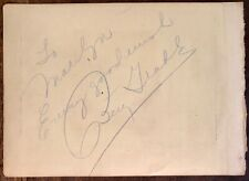 BETTY GRABLE AUTOGRAPHED Hand SIGNED VINTAGE 1940 ALBUM PAGE I Wake Up Screaming