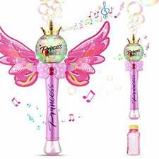 Seifenblasen Zauberstab Bubble Machine Musik Licht Magic Spielzeug rosa B-WARE