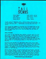 Vintage Original 1991 Tall Stories Sheet 1pg Doublesided