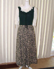Berwin & Wolff German Tracht Dress / Dirndl and Lace Shirt; 38; linen and wool