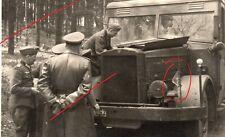 WWII WK  photo soldats officiers allemands camion kfz  100% originale