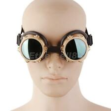 VINTAGE CYBER GOGGLES STEAMPUNK COSPLAY WELDING GOTHIC GLASSES BRASS