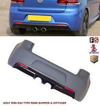 VW GOLF MK6 REAR BUMPER & DIFFUSER R20 TYPE BODY KITS 09-12 OEM FIT TDI GTI FSI