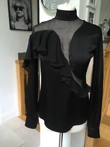 CHRISTOPHER KANE black blouse/shirt UK size 6