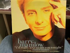 """Barry Manilow I'd Really Love To See You Tonight 12"""" 1997 ARISTA 13379"""