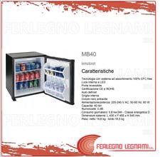 MINIBAR CON TECNOLOGIA AD ASSORBIMENTO 40LT 435X455X545 COLORE NERO ART. MB40