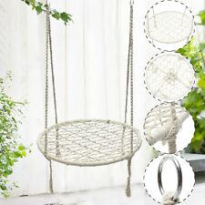 White Rope Hammock Morocco Round Macrame Net Hanging Chairs Swing Handmade Home