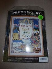 """Design Works #9674 Counted Cross Stitch Kit Spirit of the Season 16""""x 20"""" new"""