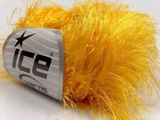 38Yd Canary Yellow Extra Long Eyelash Yarn Luxurious Packers Gold Fun Fur 13279