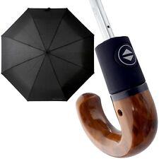 pierre cardin Herren-Regenschirm Hakengriff Taschenschirm Automatik Schirm neu