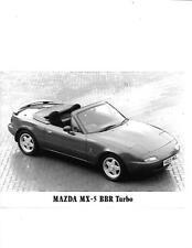 "MAZDA MX-5 BBR TURBO ORIGINAL PRESS PHOTO "" BROCHURE  RELATED""  1994"