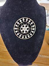 Vintage Star of David Rhinestone Brooch Pin Pendant