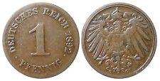 J 10   1 Pfennig Kaiserreich 1892 G in SS-VZ  502806