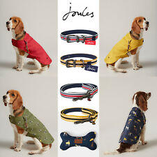 More details for joules designer dog puppy coat water resistant matching collar & lead toy bone