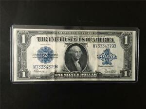 ABOUT UNCIRCULATED  FR 237 1923 $1 Silver Cert < M 7 333 4379  B >