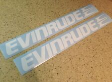 "Evinrude Vintage Outboard Motor Decals 14"" White FREE SHIP + FREE Fish Decal!"