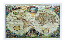 Jigsaw Pintoo Puzzles 1000 Ancient World Map +Bonus *Free Shipping Preowned VHTF