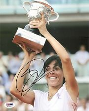 Francesca Schiavone Tennis Signed Auto 8x10 PHOTO PSA/DNA COA