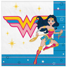 Young Dc Wonder Woman Lunch Napkins (16) ~ Birthday Party Supplies Comics Dinner