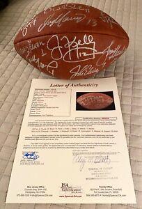 Signed Football, 15 Quarterbacks, 7 Hall of Famers, LOA