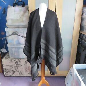 M&S Black/Grey Mix Shawl/Wrap One Size
