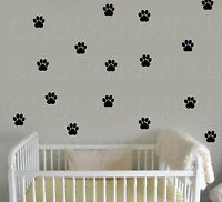 "CAT Paw Print Decals Pet Animal 1.5"" or  2.5"" Wall Window Floor Stickers Big Set"