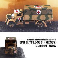 Opel Blitz 3.6-36 S(Kfz.305)21.Pz.Div. Medenine 1/72 DIECAST MODEL Ambulance IXO