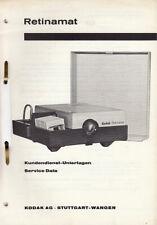 Kodak Reparaturanleitung für Retinamat - Original Ausgabe