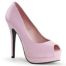 Zapatos de tacón de mujer de tacón alto (más que 7,5 cm) de color principal rosa de charol